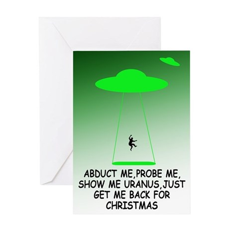 Funny alien saying Christmas Greeting Card