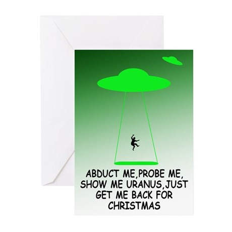 Funny alien saying Christmas Greeting Cards (Pk of