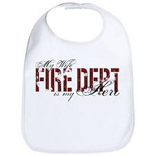 My Wife My Hero - Fire Dept Bib