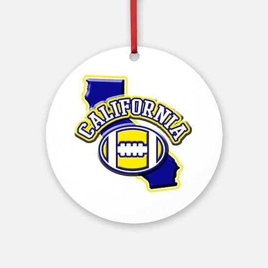 California Football Ornament (Round)