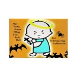 Baby Jesus Halloween Rectangle Magnet