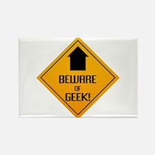 Beware of Geek Rectangle Magnet (10 pack)
