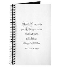 MATTHEW 24:34 Journal