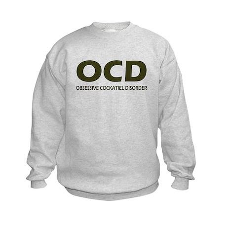 Obsessive Cockatiel Disorder Kids Sweatshirt
