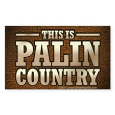 Palin Country Rectangle Decal
