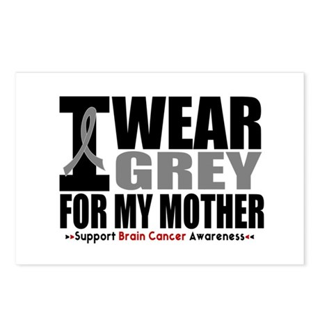 I Wear Grey Mother Postcards (Package of 8)