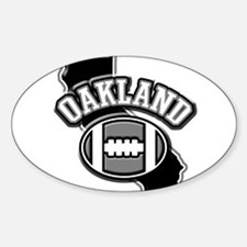 Oakland Football Oval Decal