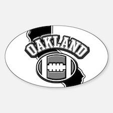 Oakland Football Oval Sticker (10 pk)