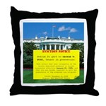 Bush Eviction Notice Throw Pillow
