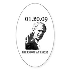 01-20-09 End of an Error Oval Decal
