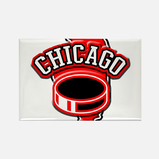 Chicago Hockey Rectangle Magnet