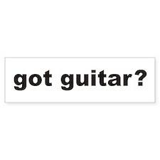 got guitar? Bumper Car Sticker