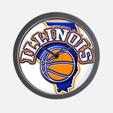 Illinois Basketball Wall Clock