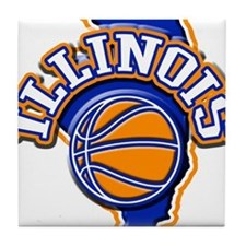 Illinois Basketball Tile Coaster