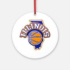 Illinois Basketball Ornament (Round)