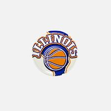 Illinois Basketball Mini Button