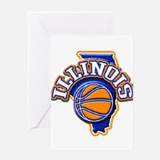 Illinois Basketball Greeting Card