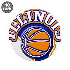 "Illinois Basketball 3.5"" Button (10 pack)"