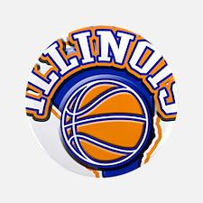 "Illinois Basketball 3.5"" Button"