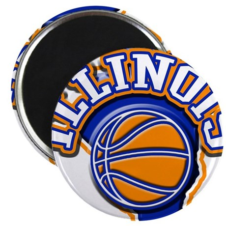 "Illinois Basketball 2.25"" Magnet (10 pack)"