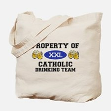 Property of Catholic Drinking Team Tote Bag