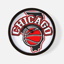 Chicago Basketball Wall Clock