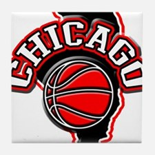Chicago Basketball Tile Coaster