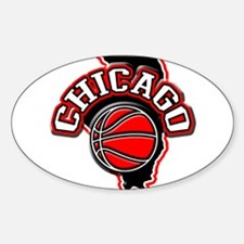 Chicago Basketball Oval Decal