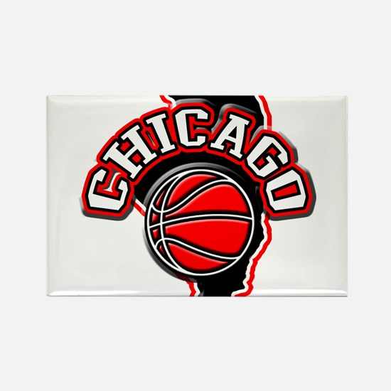 Chicago Basketball Rectangle Magnet