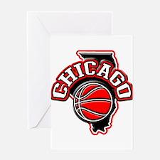Chicago Basketball Greeting Card