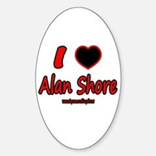 LOVE ALAN Oval Bumper Stickers