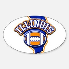 Illinois Football Oval Decal