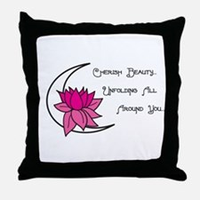 Lotus Moon Throw Pillow