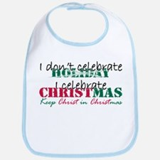 I celebrate Christmas Bib