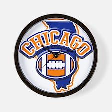 Chicago Football Wall Clock