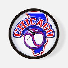 Chicago Baseball Wall Clock