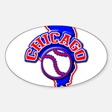 Chicago Baseball Oval Decal