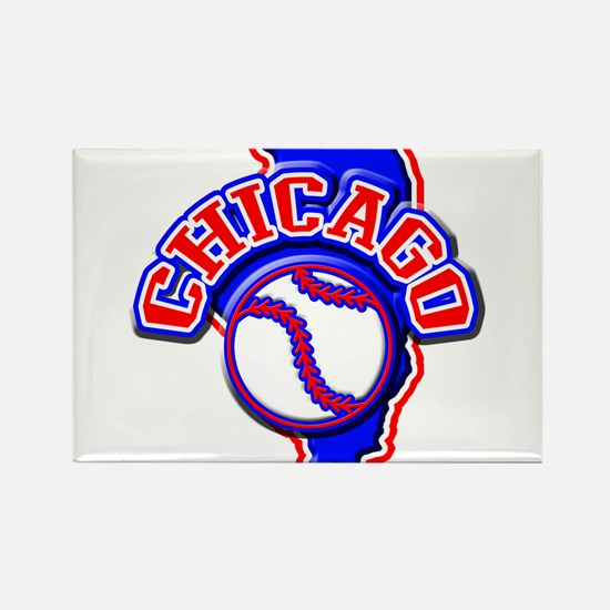 Chicago Baseball Rectangle Magnet