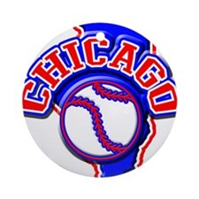 Chicago Baseball Ornament (Round)