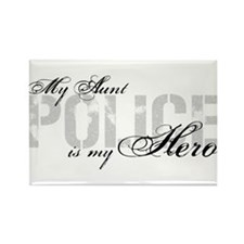 My Aunt is My Hero - POLICE Rectangle Magnet