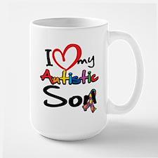 I Love My Autistic Son 2 Mug