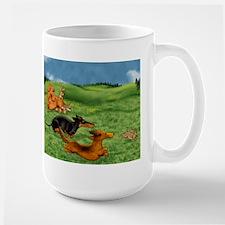 Running of the Bunnies Large Mug