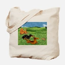 Running of the Bunnies Tote Bag