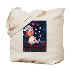 Victory Nostalgia Sailor Girl Tote Bag