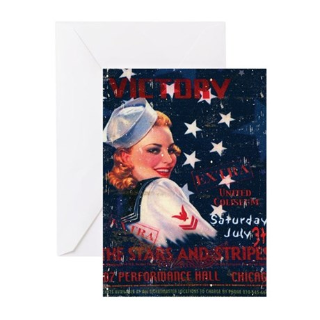 Victory Nostalgia Sailor Girl Greeting Cards (Pk o