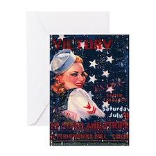 Victory Nostalgia Sailor Girl Greeting Card