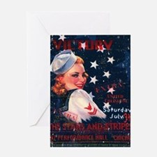 Victory Nostalgia Sailor Girl Greeting Card