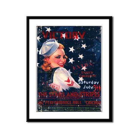 Victory Nostalgia Sailor Girl Framed Panel Print