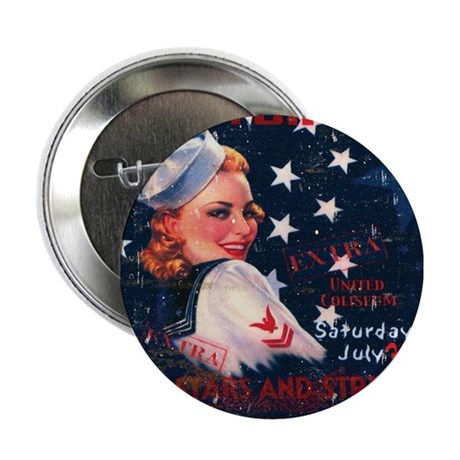 """Victory Nostalgia Sailor Girl 2.25"""" Button (10 pac"""