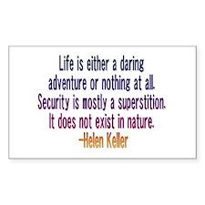 Helen Keller quote 2 Rectangle Decal